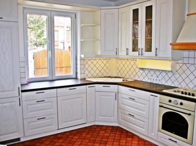Fehér kőris vintage konyha